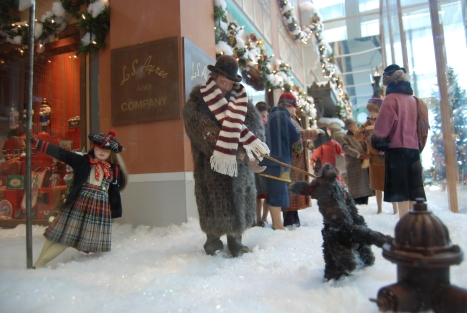 LS Ayres Holiday Window at the Indiana State Museum