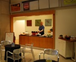 The new coffee bar at the Indiana State Museum.