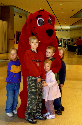 Clifford at the Indiana State Museum during Celebration Crossing.