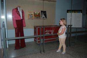 Sarah from Carmel enjoys a Jackson 5 costume worn in a 1970's Sonny & Cher Show performance