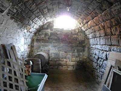 A brighter corner of the Lanier basement.