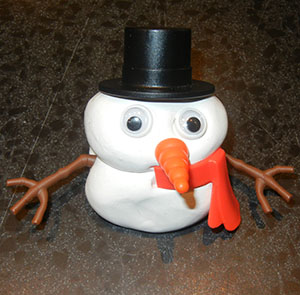 Silly Putty Frosty! Ain't he cute!