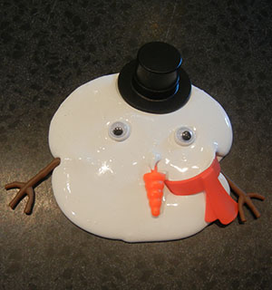 Silly Putty Frosty has melted!