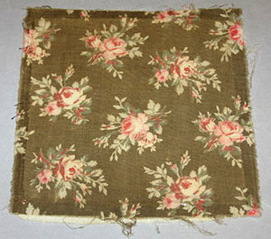 "For many years, this swatch of fabric, which is preserved in the LFFC, was purported to be from the dress of actress Laura Keene, the female lead in ""Our American Cousin"" the night of Lincoln's murder. According to legend, Keene rushed to the Presidential Box to comfort the stricken leader, cradling his bloody head in her lap. Whether or not this story is accurate, recent examination suggests this fragment dates to the 1890s, three decades after the murder, and 20-some years after Keene's death. At one time or another, most historical organizations east of the Mississippi River have claimed to possess a ""fragment of Laura Keene's dress."""